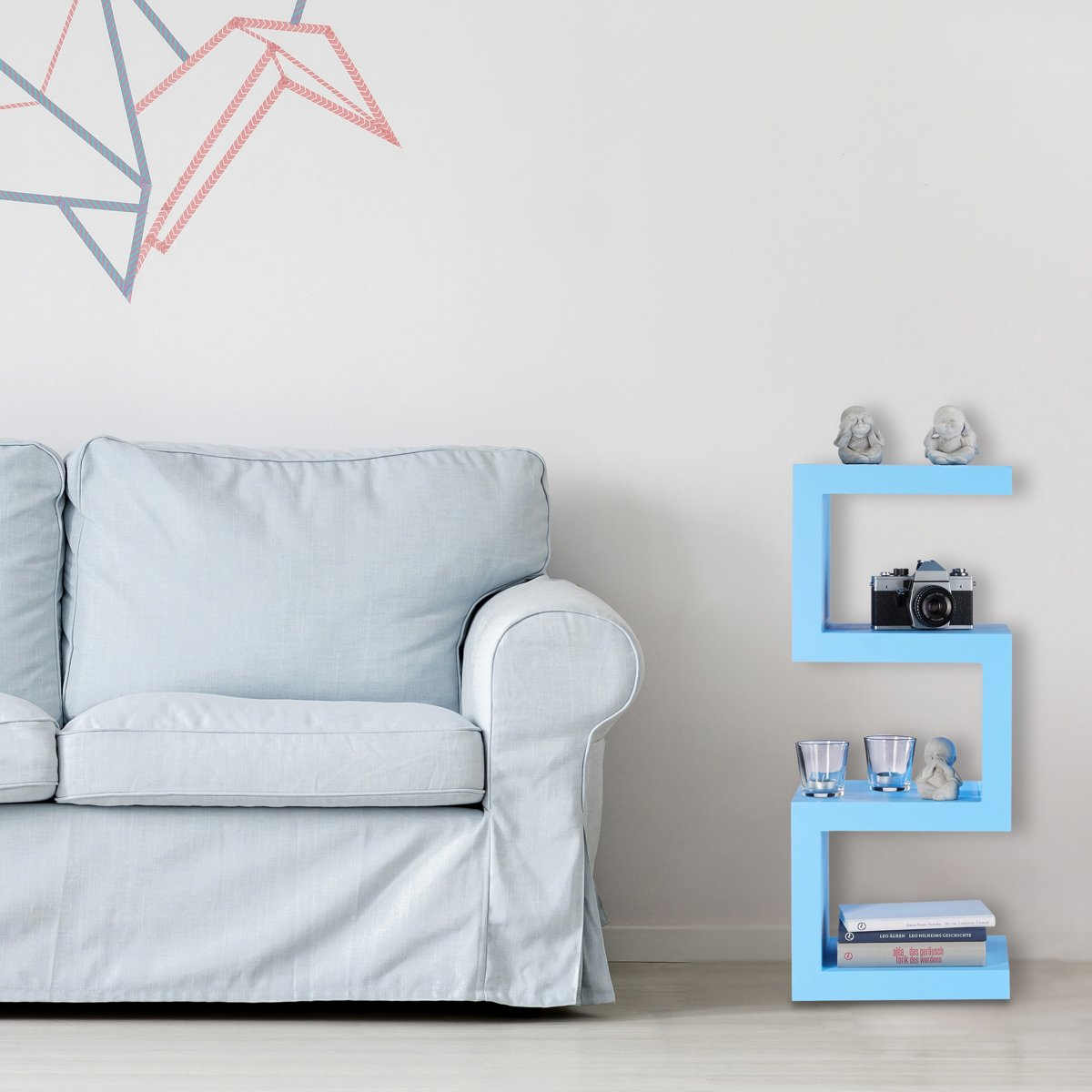 Dikke Planken Boekenkast.Bol Com Relaxdays Retro Kastje Kleurrijk Zigzag Design