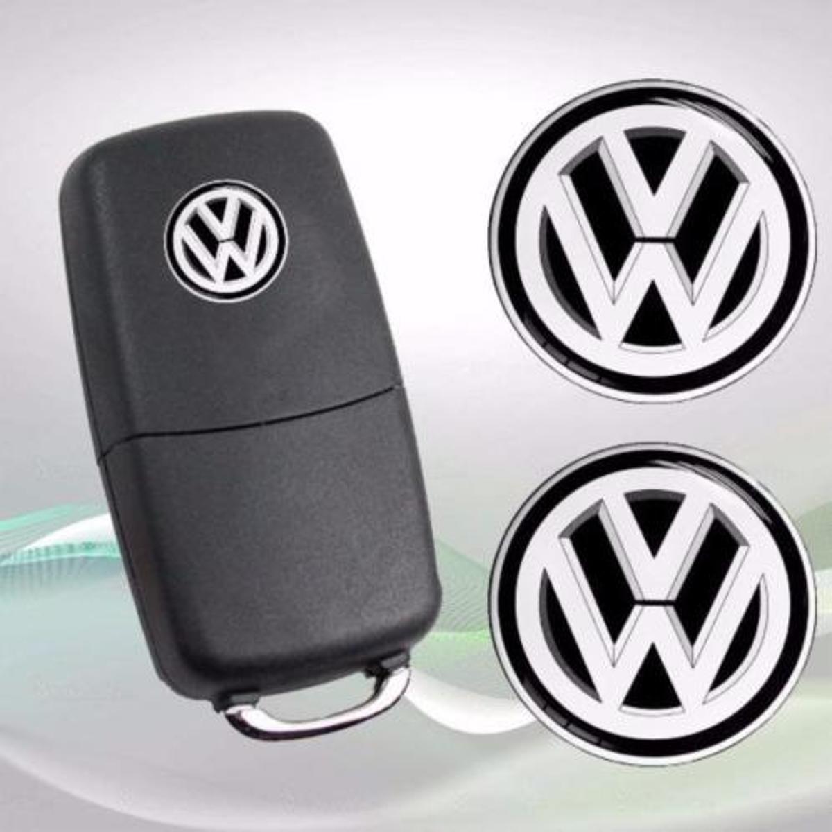 Volkswagen 14mm Sleutel Sticker Embleem Zwart