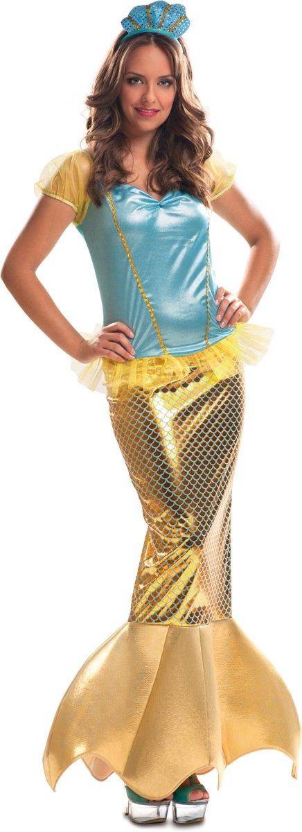 Goud kleurige zeemeerminkostuum voor volwassenen