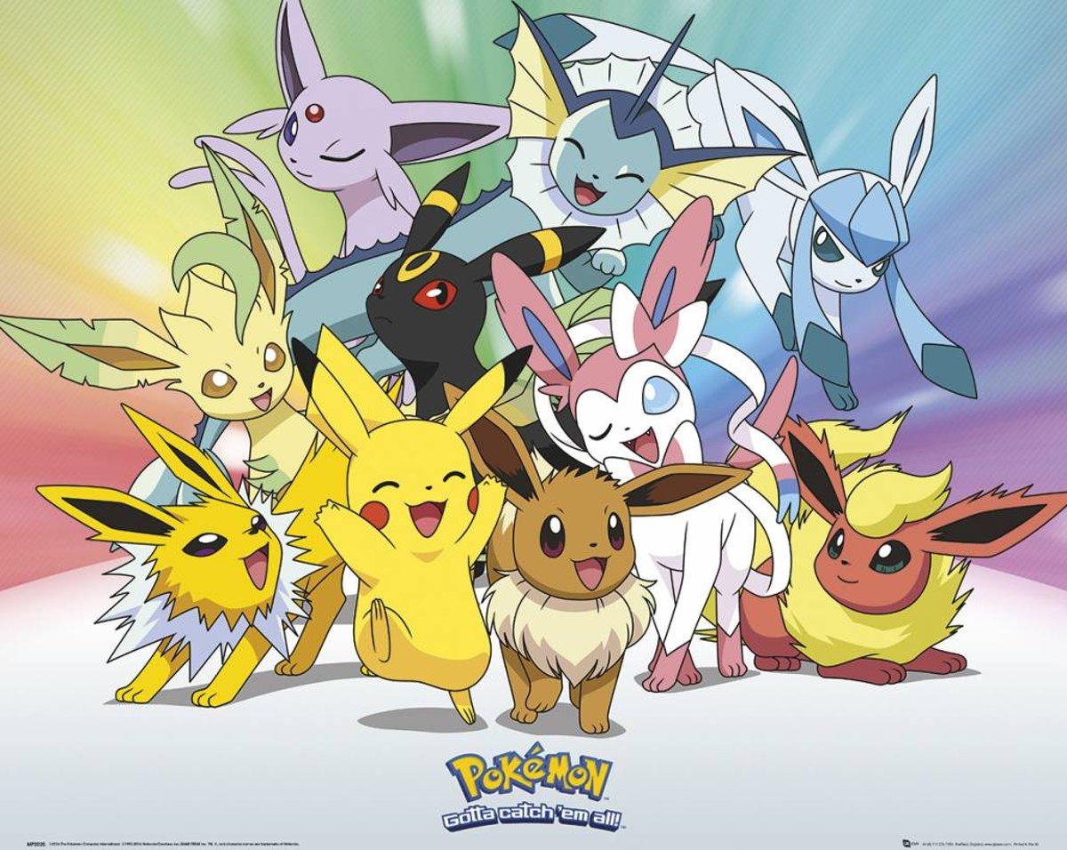Pokemon Eevee - Poster 50 x 40 cm kopen