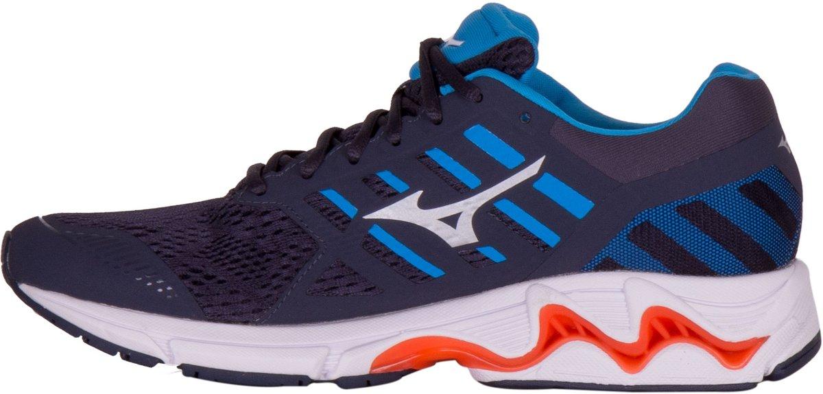 Mizuno Sportschoenen Maat 45 Mannen zwartblauwwitoranje
