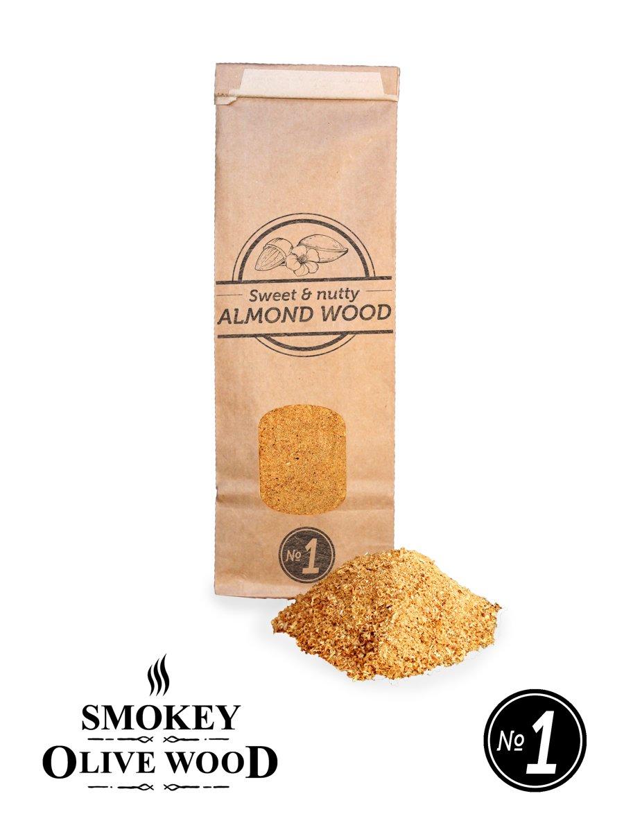 Smokey Olive Wood - Rookmot - 300 ml, AMANDELHOUT - Rookmeel fijn ø 0-1mm kopen