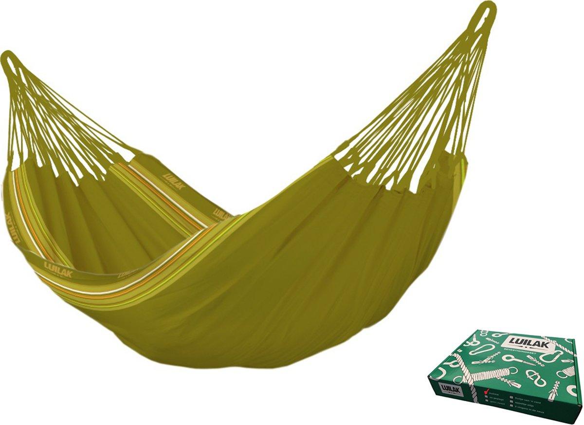 Hangmat - Magnifico - Groen - Met bevestigingsset - Luilak
