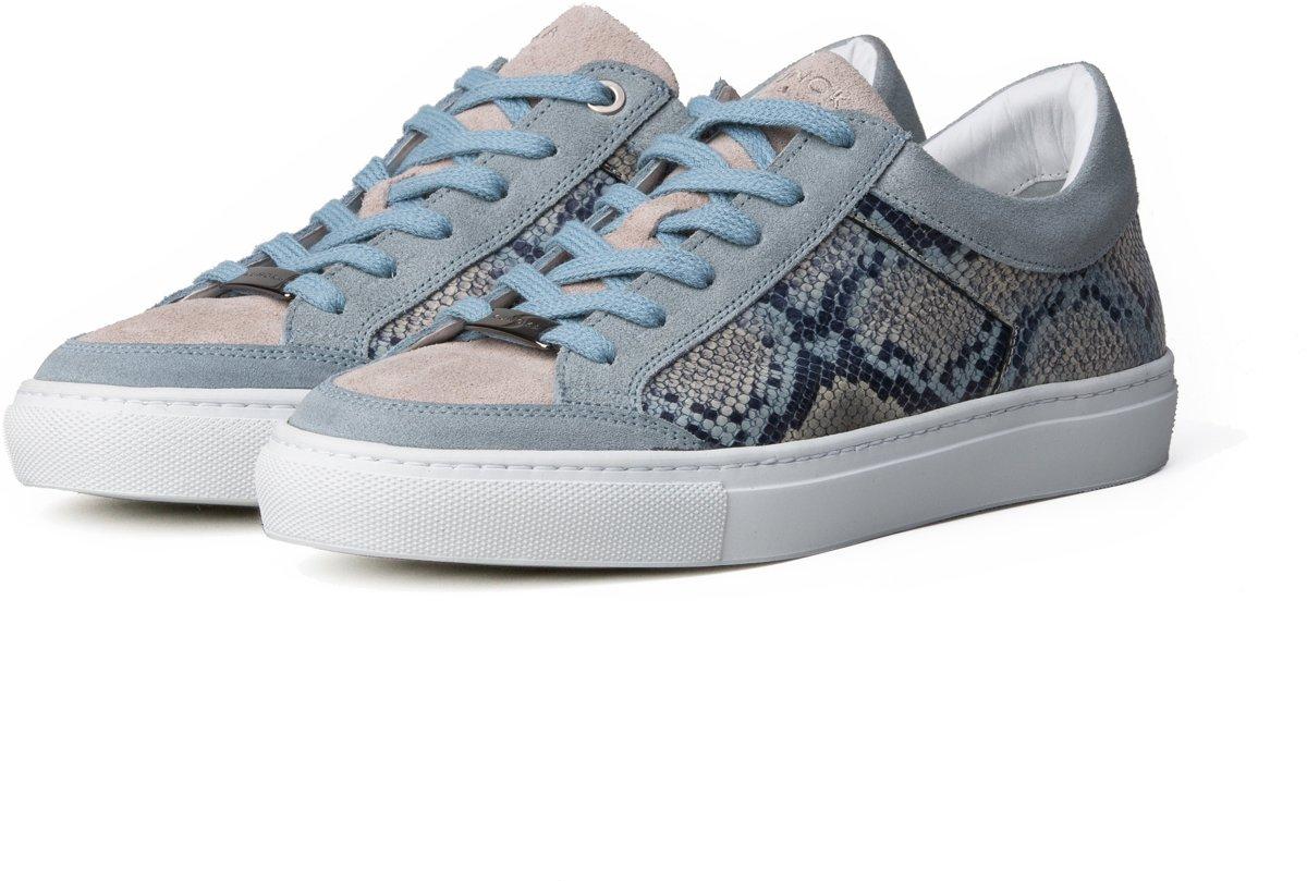 KUNOKA Alex 1.1a snake light blue Sneakers Dames Blauw
