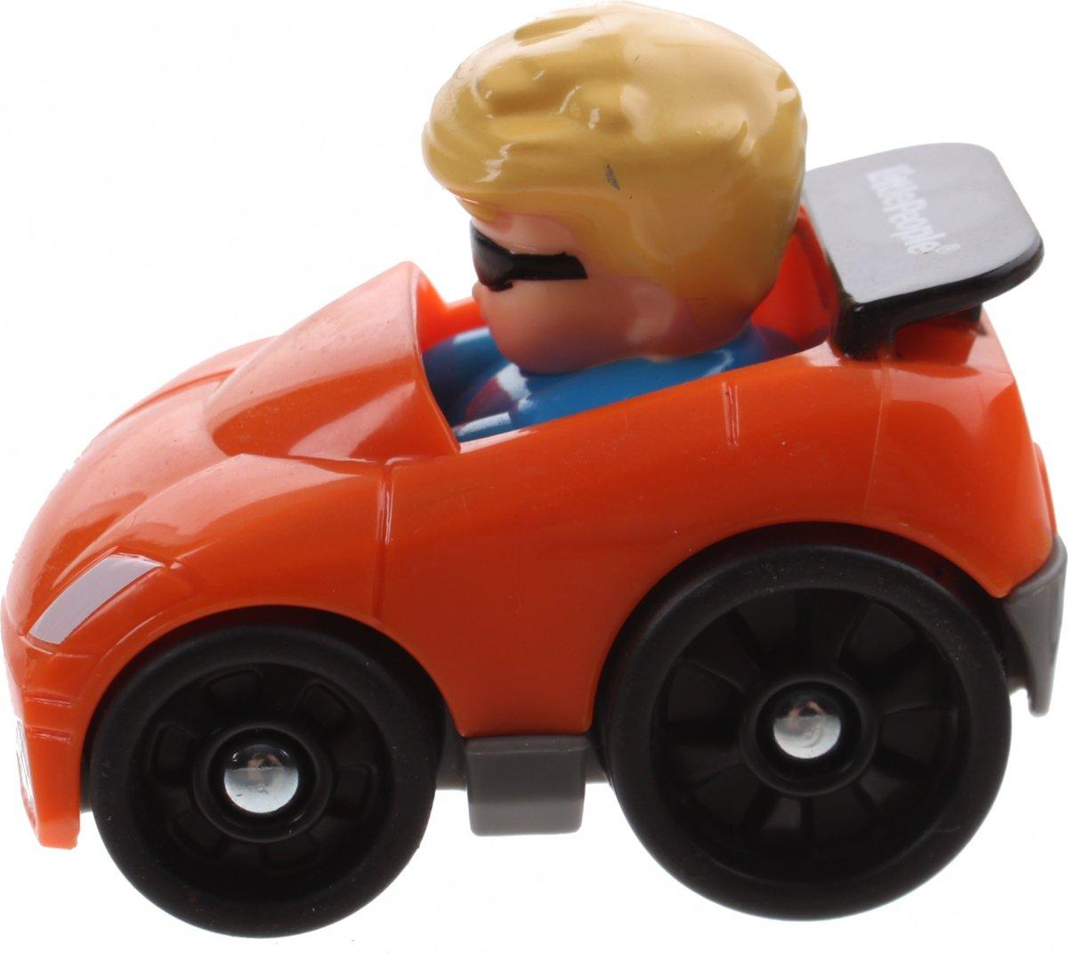 Fisher-price Little People Wheelies Auto 6,5 Cm Oranje (bgc64)