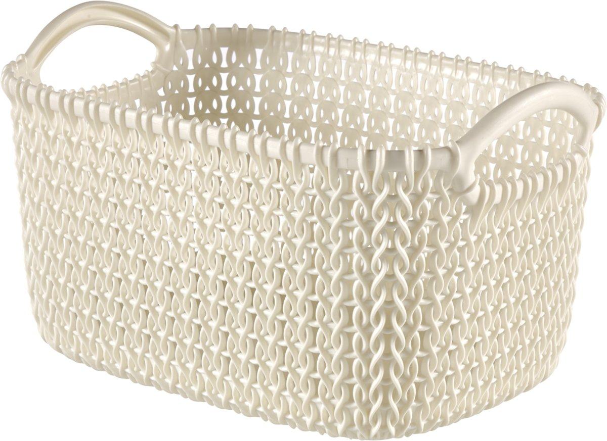Curver Knit Mandje - Rechthoekig - XS - 3 l - Wit kopen