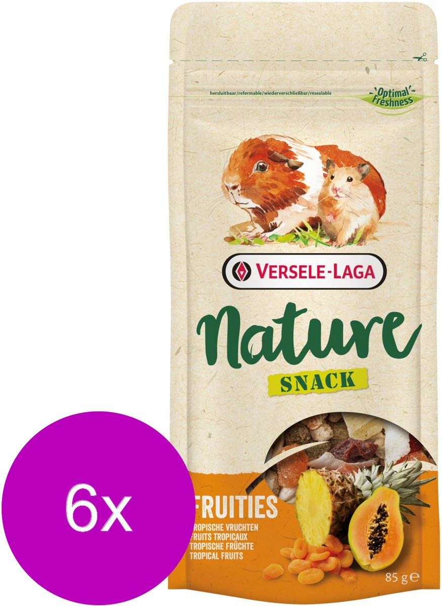 Versele-Laga Nature Snack Fruities - Knaagdiersnack - 6 x Fruit 85 g