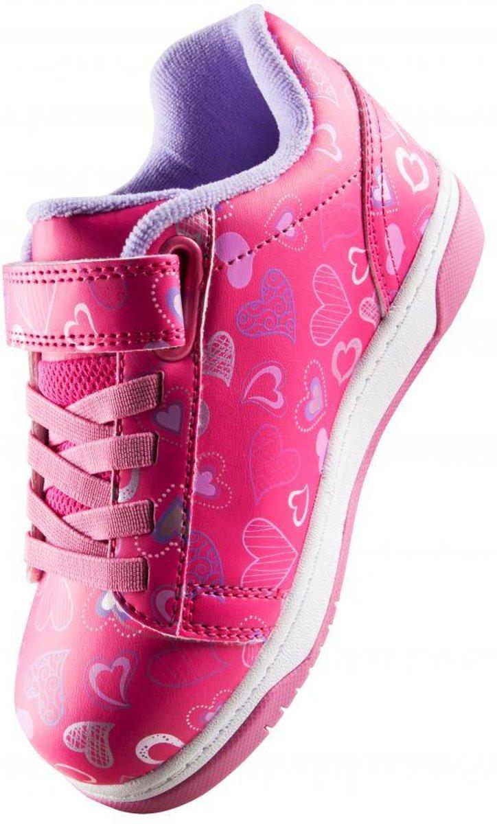 Chaussures À Roulettes Heelys Up Double Coeurs - Chaussures De Sport - Enfants - Taille 32 - Filles - Rose WjuH3B