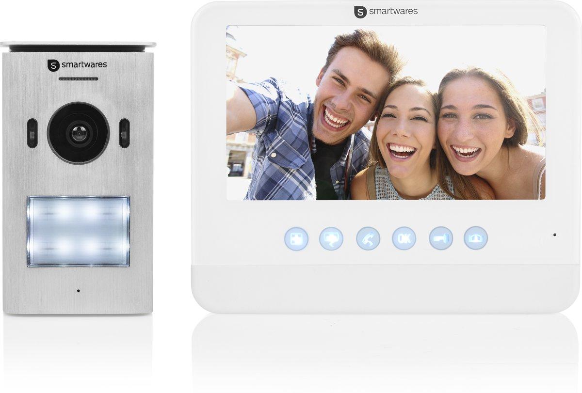 Smartwares DIC-22212 Video deurintercom systeem voor 1 appartement - 2-draads met 2-weg audiocommunicatie kopen