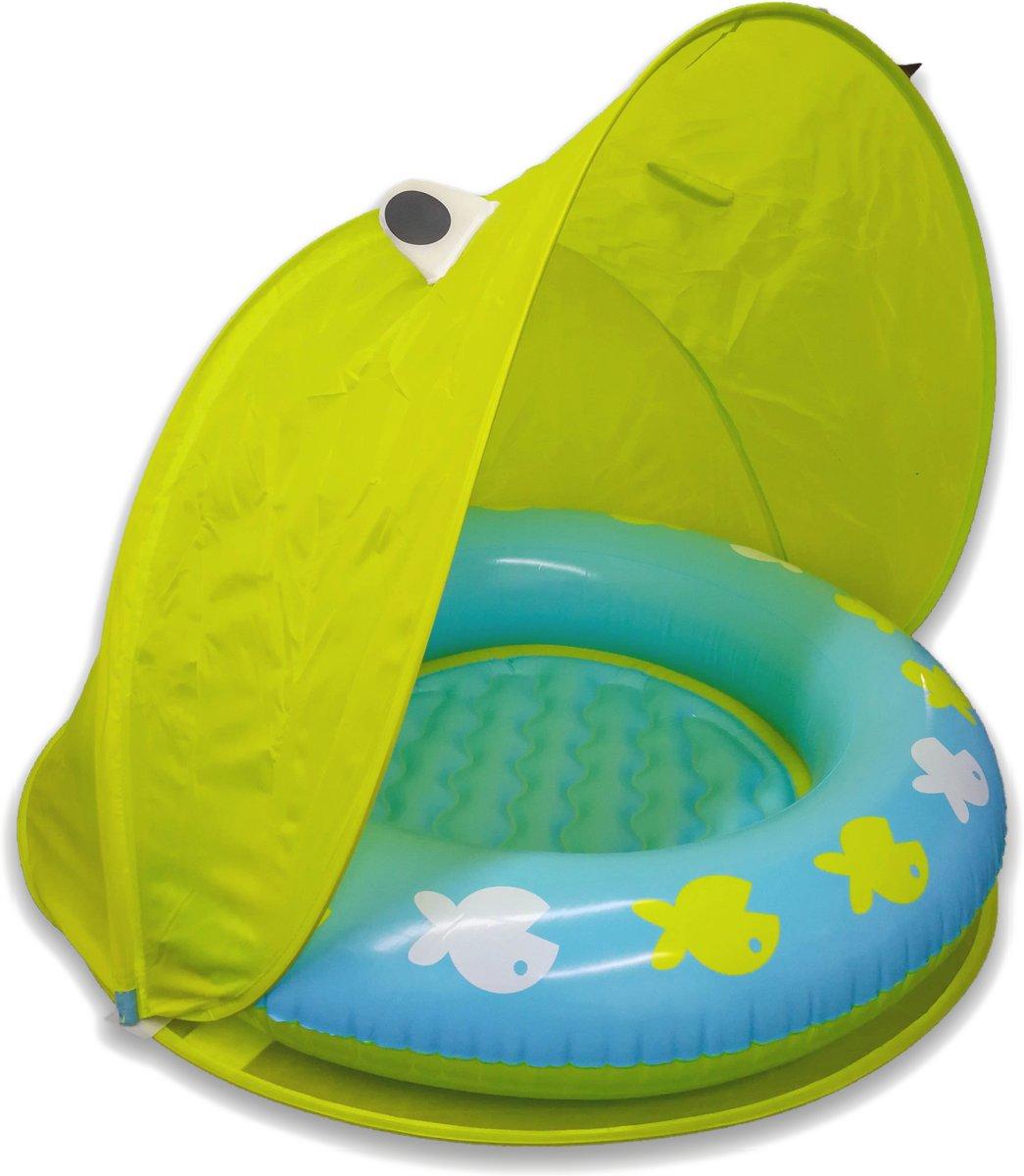 ᐅ Opblaasbaar Buiten Babyzwembadje Met Zonnebescherming En