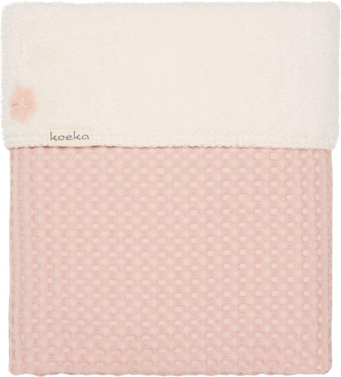 Koeka Wiegdeken wafel/teddy Oslo - Shadow pink
