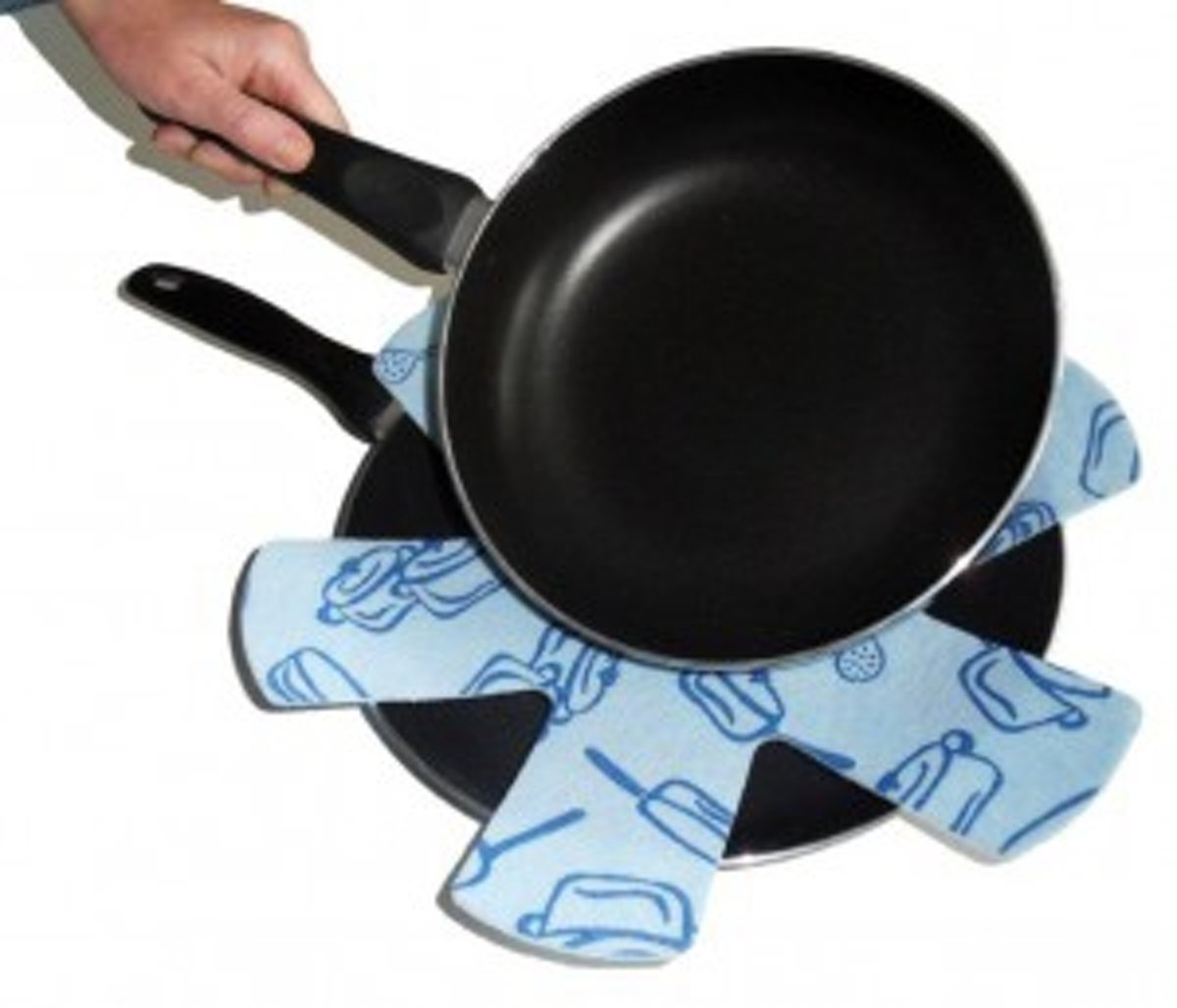 Papillon Koekenpan ster Pot en Pans dessin ' Blauw '-Set/3