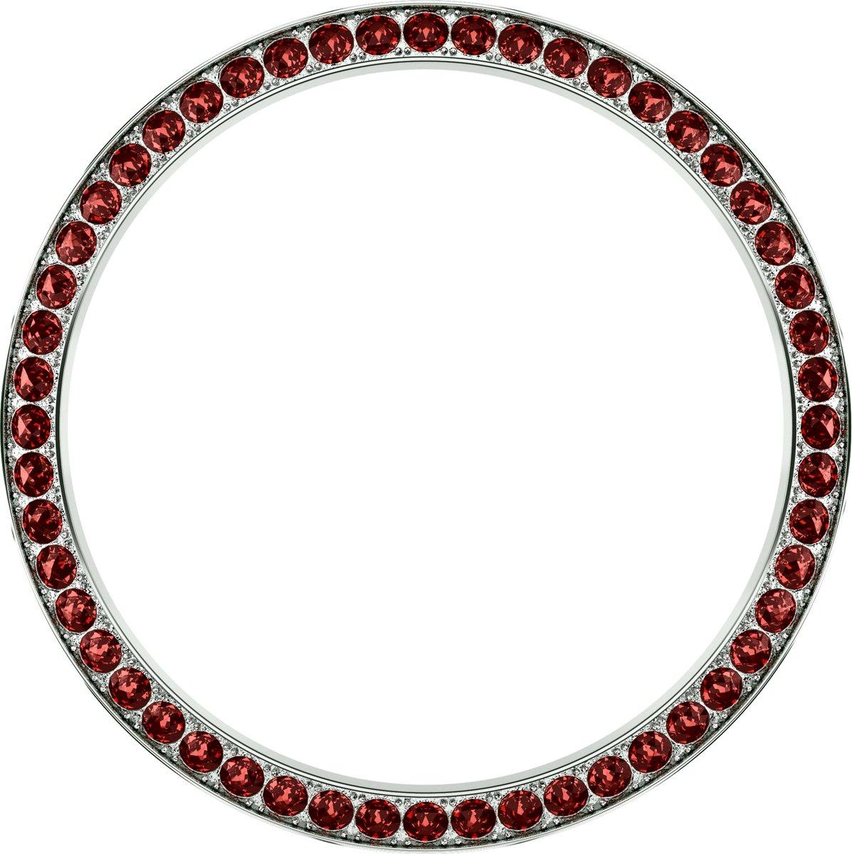 Marc Coblen - Zilverkleurige verwisselbare horlogering - 42mm - Ronde stenen - Rood kopen
