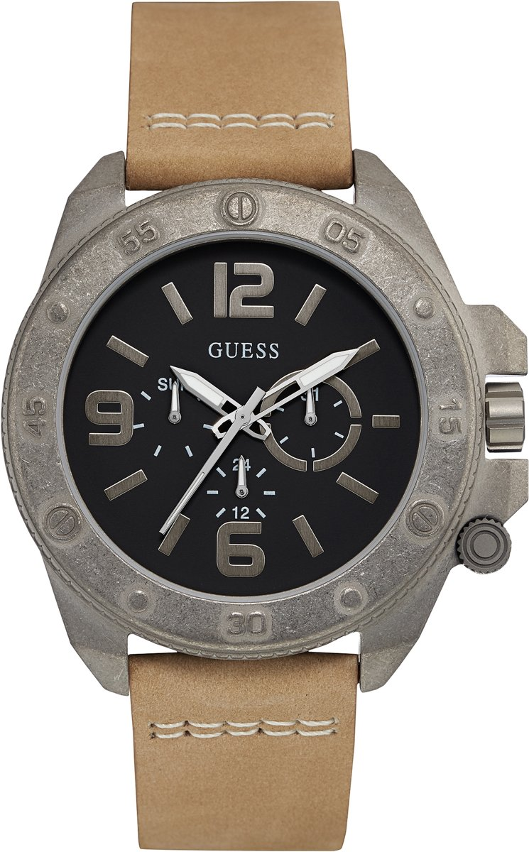 GUESS Watches W0659G4 Viper - Horloge - Heren - Bruin - Ø 46 mm thumbnail