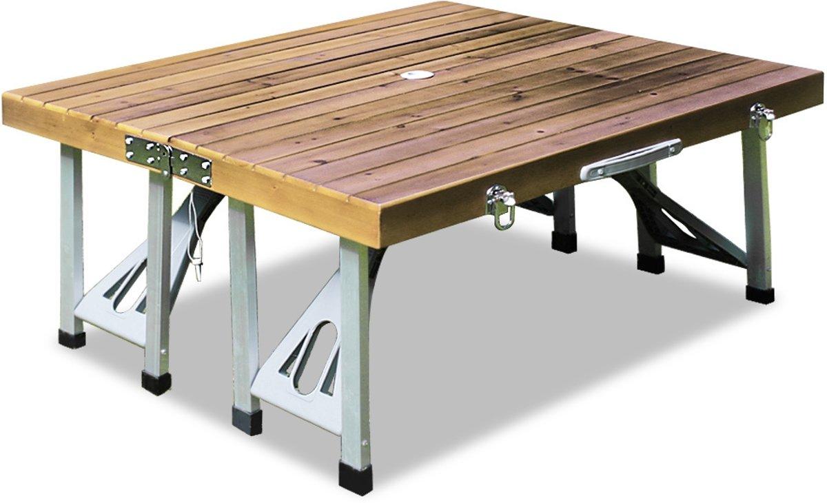 houten campingtafel