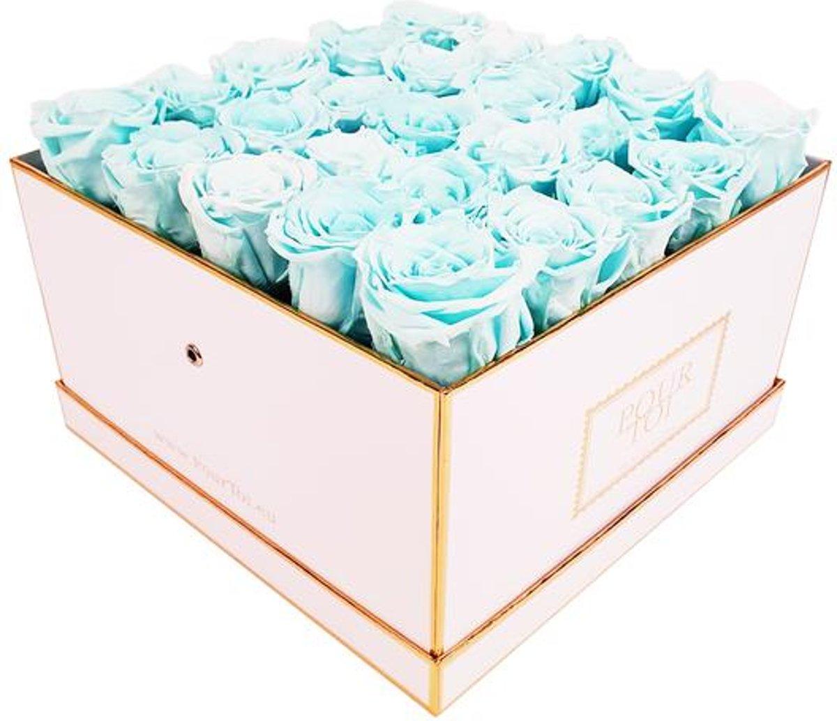 Infinity Tiffany Blue Large White Flowerbox – Square kopen