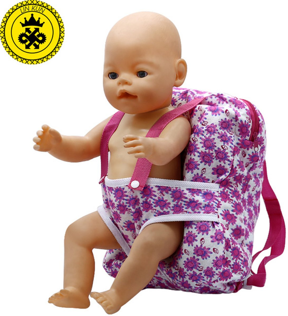 B-Merk Baby Born rugzak, draagtas, roze