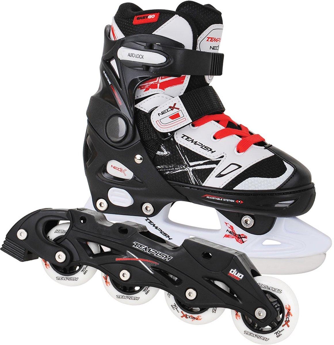 Tempish Skate/Schaats combo verstelbaar NEO-X DUO Zwart/Wit/Rood 29-32