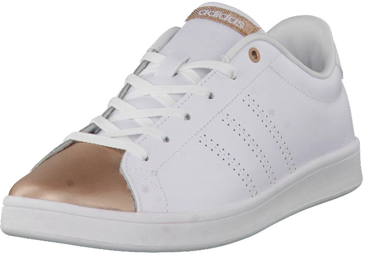competitive price 49748 d9ba3 bol.com  Adidas - Advantage Clean Qt - Sneaker laag - Dames - Maat 38,5 -  Wit - Ftwr WhiteCoppmt