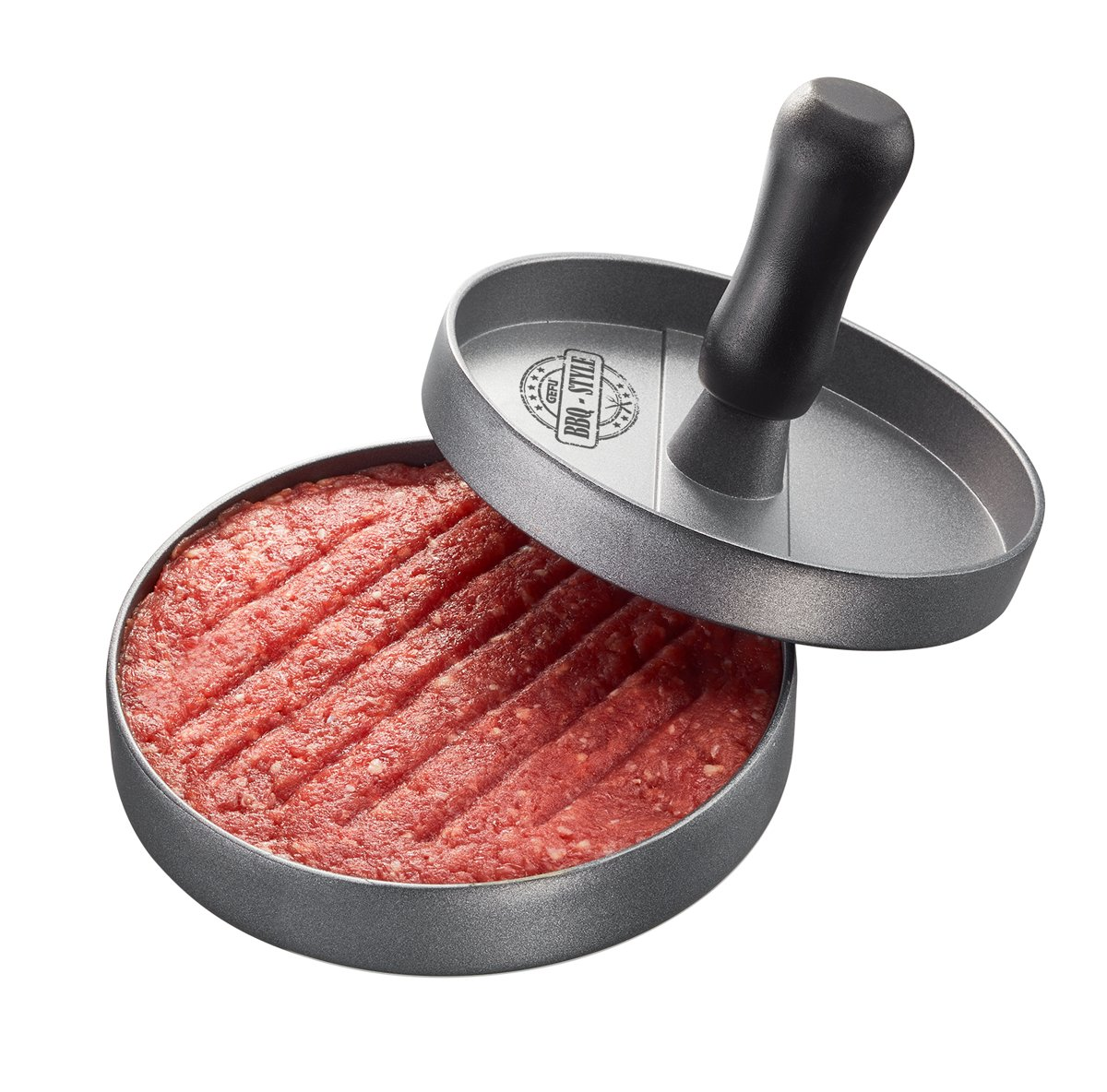GEFU Hamburgerpers BBQ - aluminium - grijs kopen
