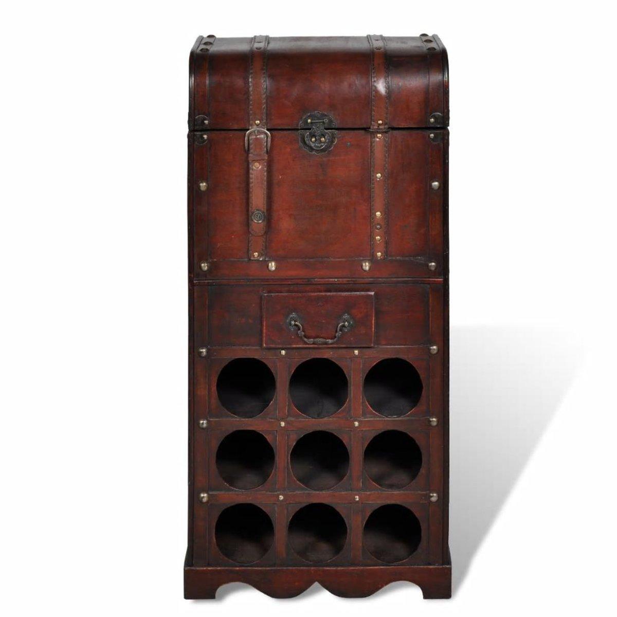 Wonderbaarlijk bol.com | vidaXL - Wijnrek Houten wijnrek voor 9 flessen met BM-98