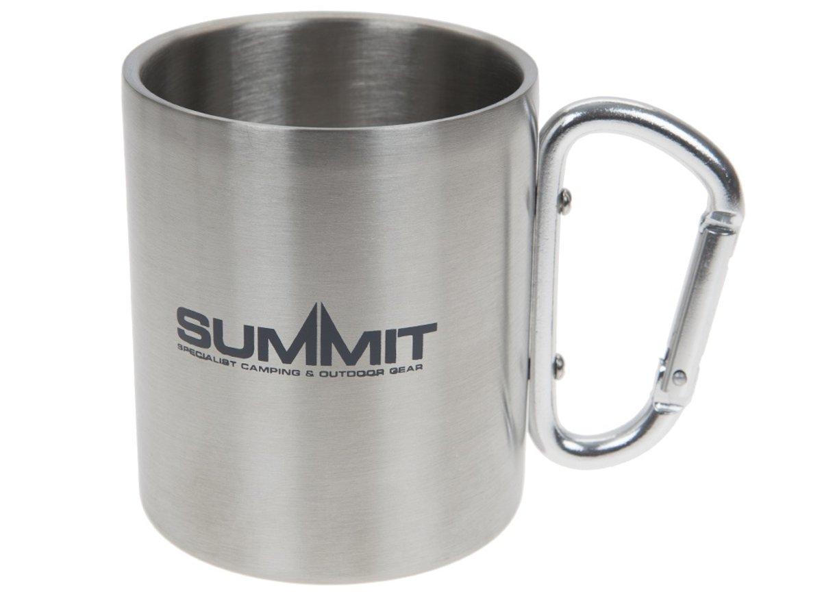 Summit Drinkbeker Met Karabijnhaak Rvs 300 Ml Zilver kopen