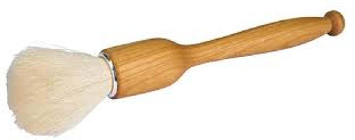 Afstofpenseel geitenhaar - 21 cm kopen