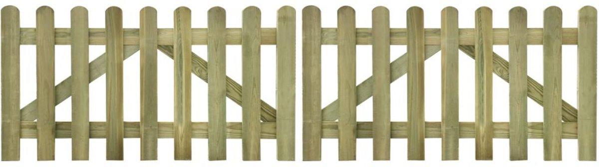 vidaXL Tuinhek poort 2 stuks 300 x 80 cm geïmpregneerd hout kopen