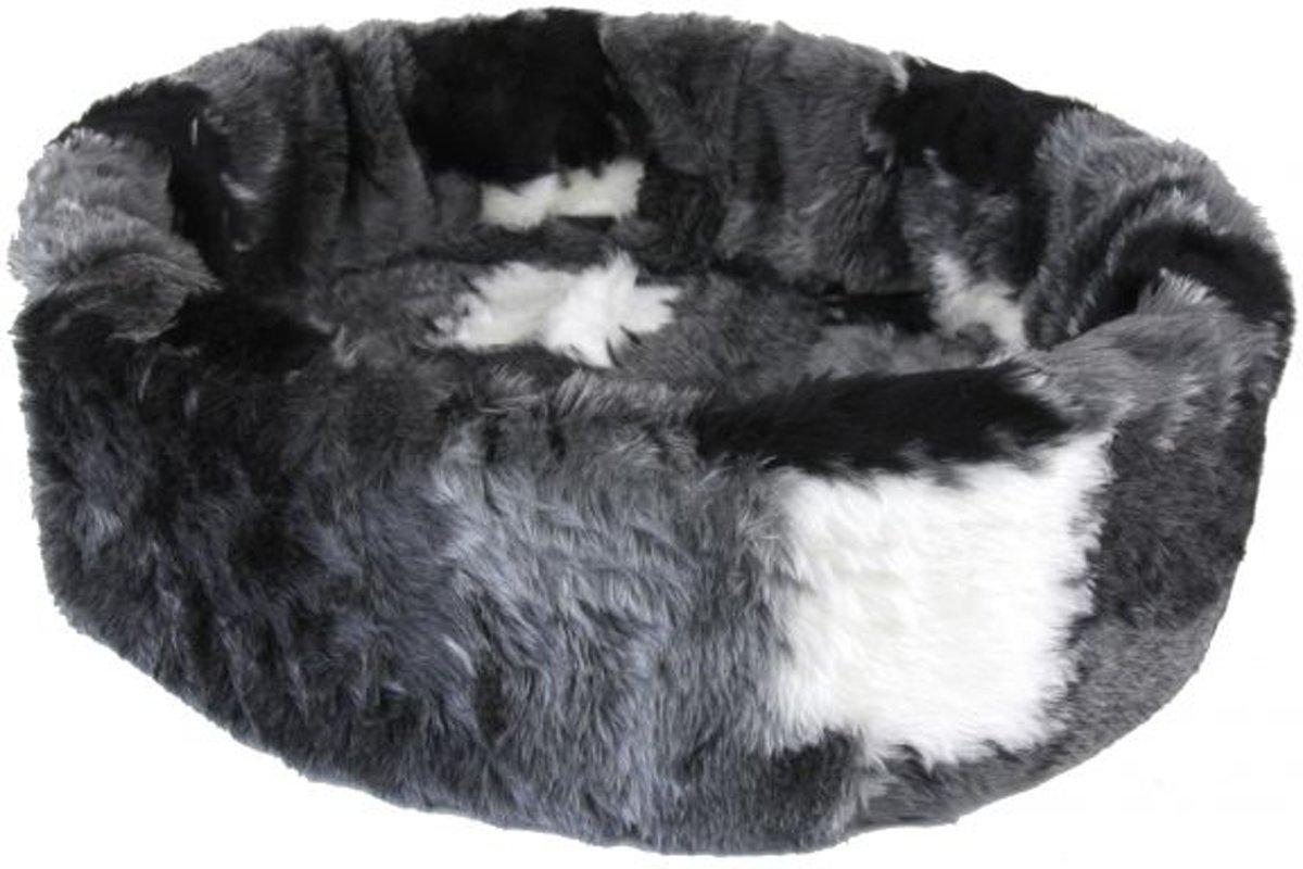 Petcomfort Hondenmand/Kattenmand Lapjesdeken - 56x50x15 cm - Grijs