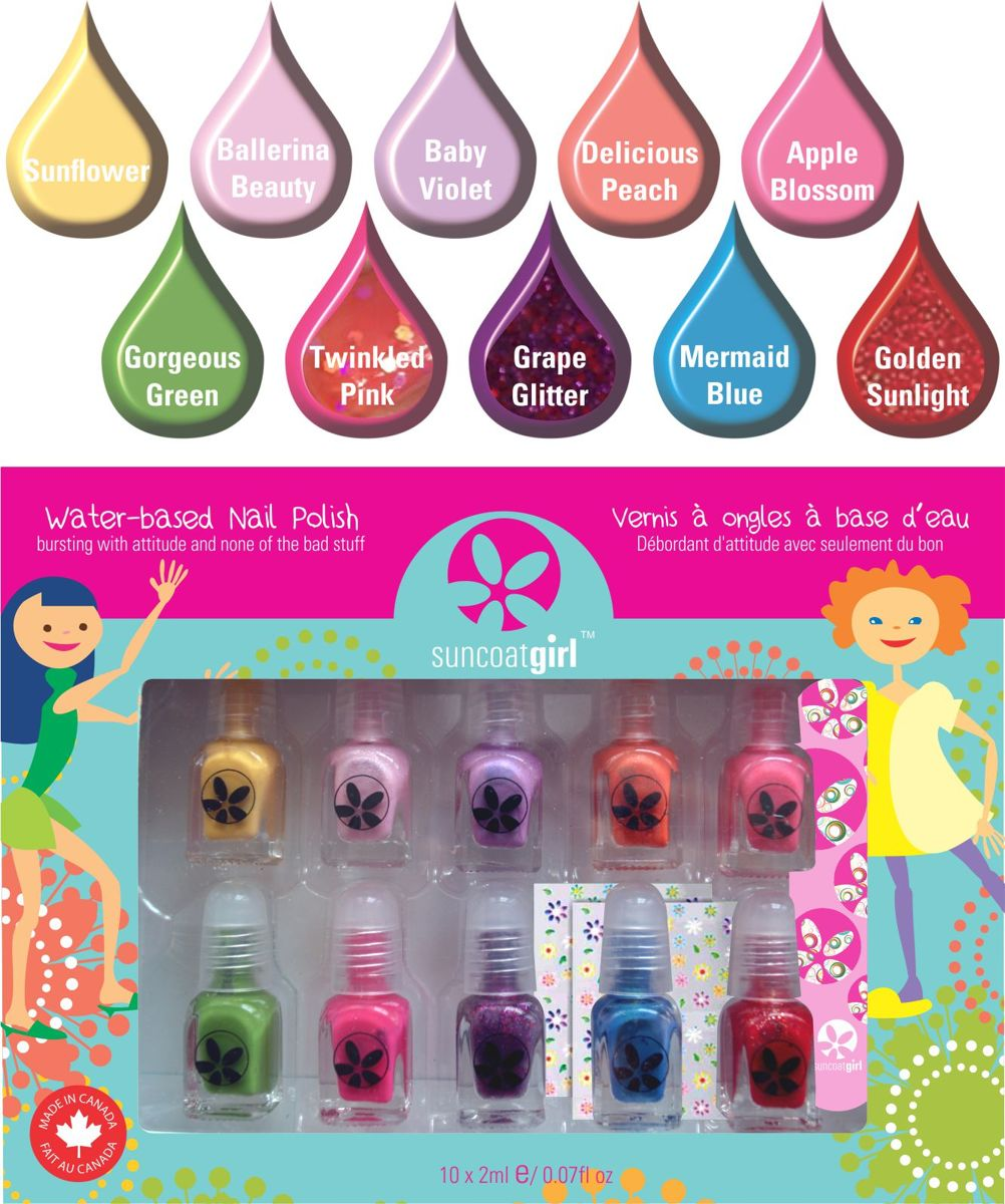 Kindernagellak set met stickertjes en vijl - Party Palette