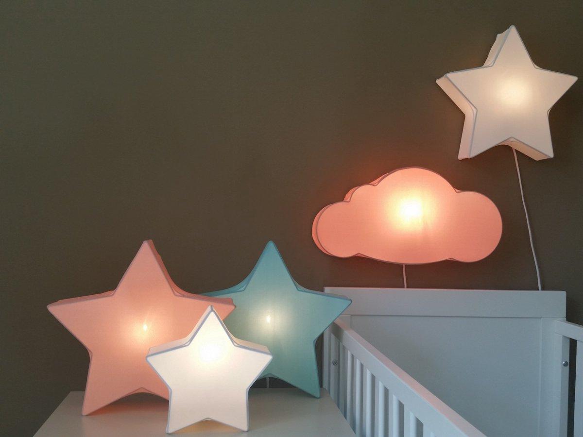 bol | wandlamp babykamer wolk zacht oranje, Deco ideeën