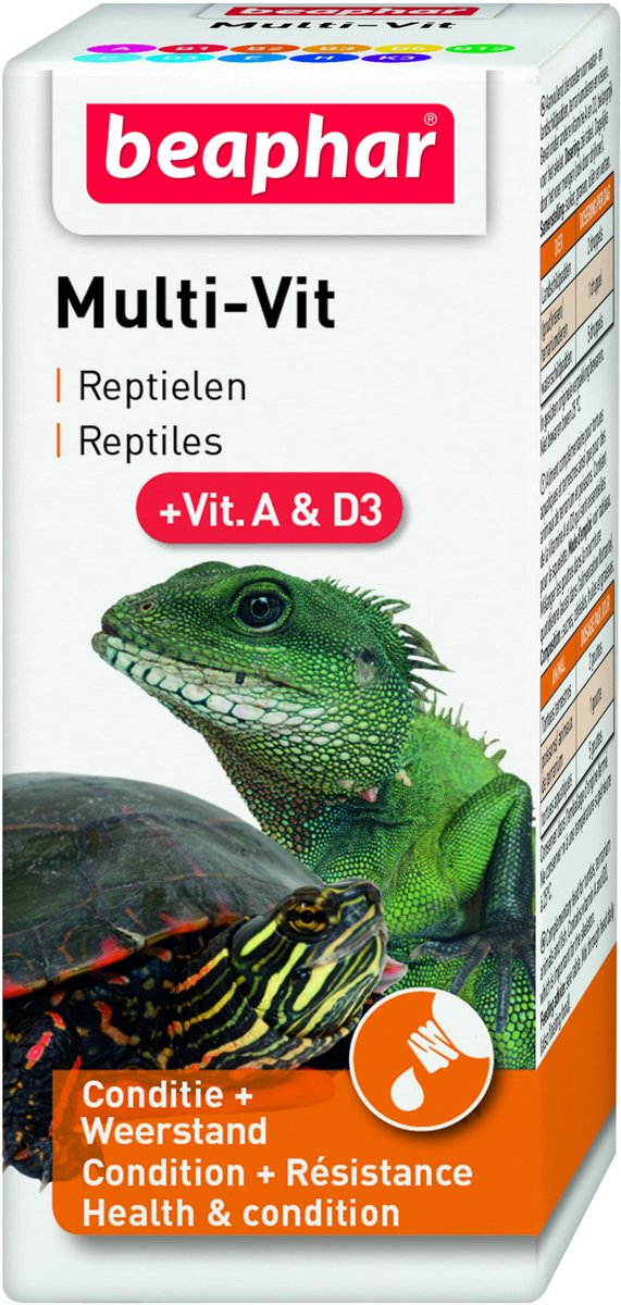 Beaphar Turtle Vitamin - Vitaminepreperaat - Schildpad - 20 ml
