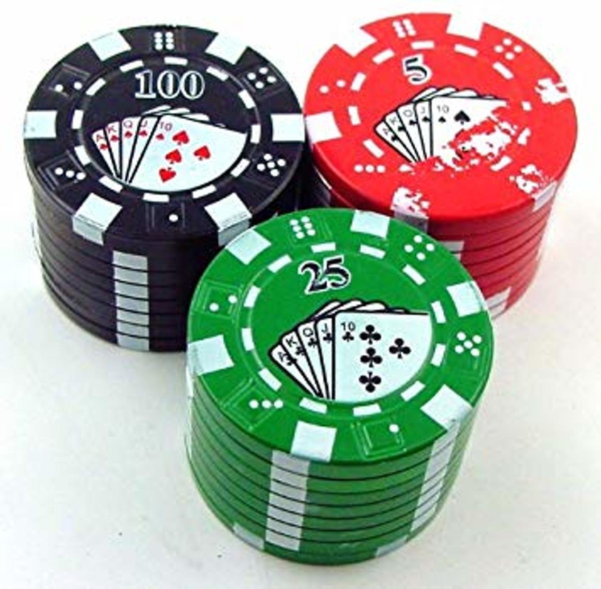 Grinder Poker Chip - scherpe tandjes - wiet - kopen