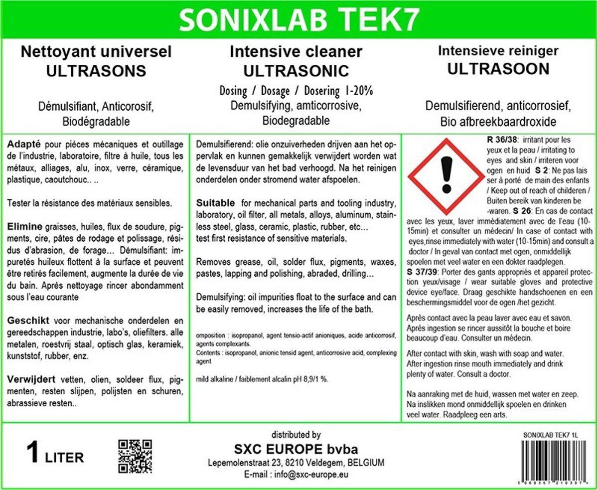Sonixlab TEK7 speciale milde ultrasoon vloeistof (electronische componenten) - 1 liter kopen
