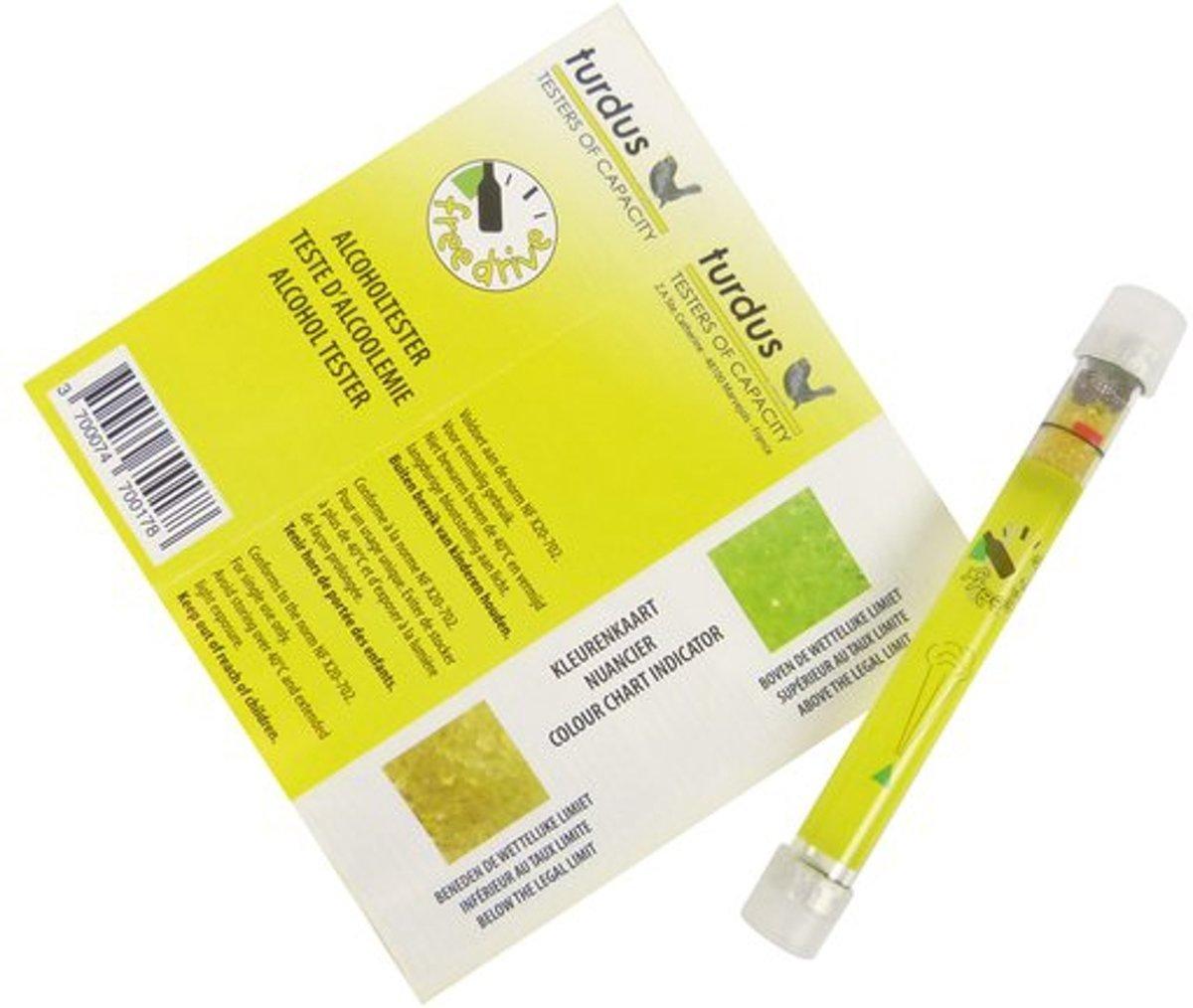 Foto van Voordeelpakket 10st Wegwerp Alcoholtester - Alcohol Ademtester - Alcohol Tester met NF-Keurmerk - 10 Stuks