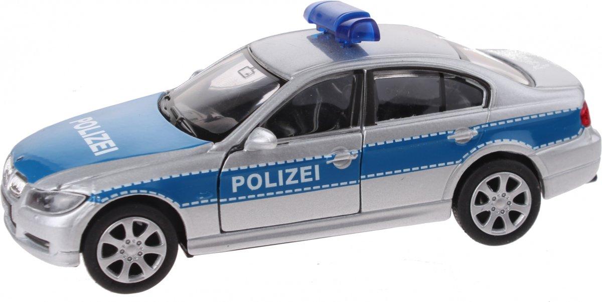 Welly Schaalmodel Nex Bmw Polizei Die-cast Zilver 11 Cm