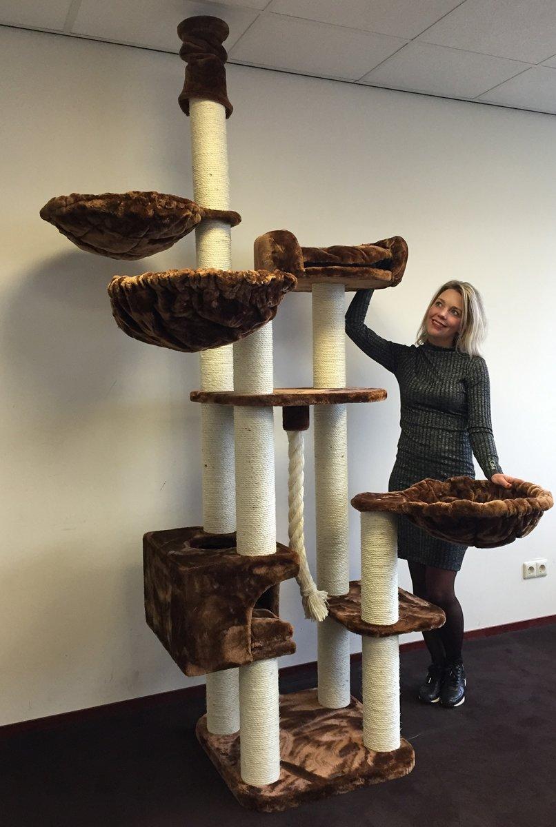 Krabpaal Catdream de Luxe Bruin voor grote katten