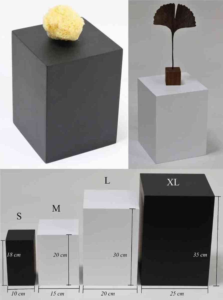 Houten zuil/ sokkel/ presentatieblok/ pilaar M Zwart kopen