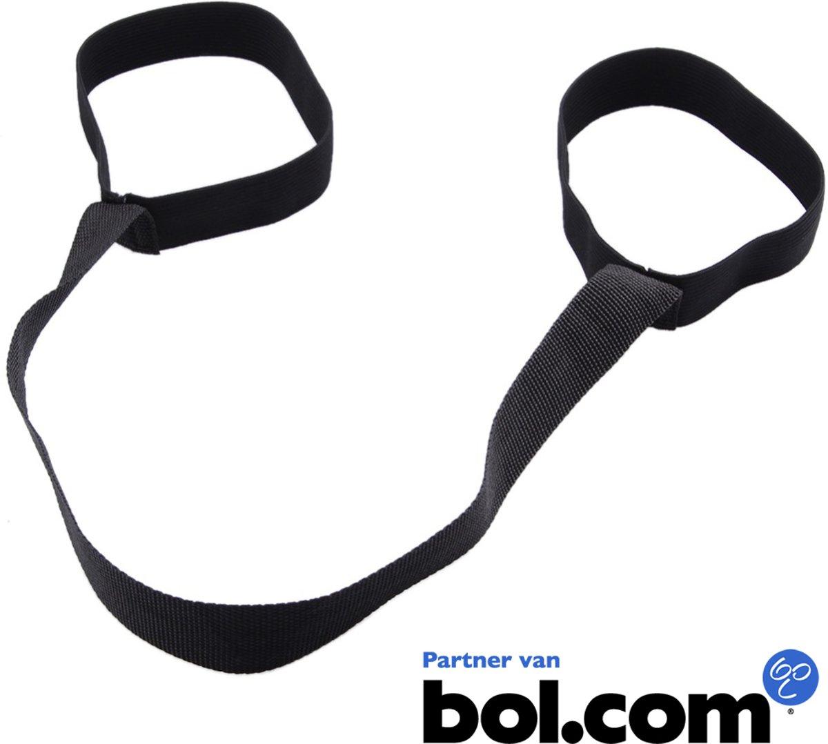 Draagriem PRO voor Fitnessmat - Draagband voor Yoga Mat - 100% Katoen (geleverd zonder Yoga Mat) - Zwart kopen