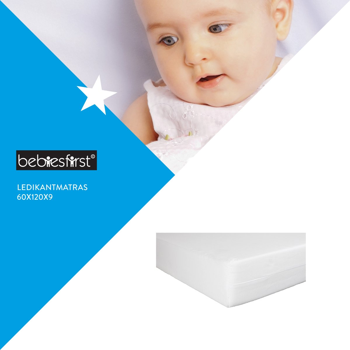 Bebies First - Matras Polyether - 60x120x9 cm