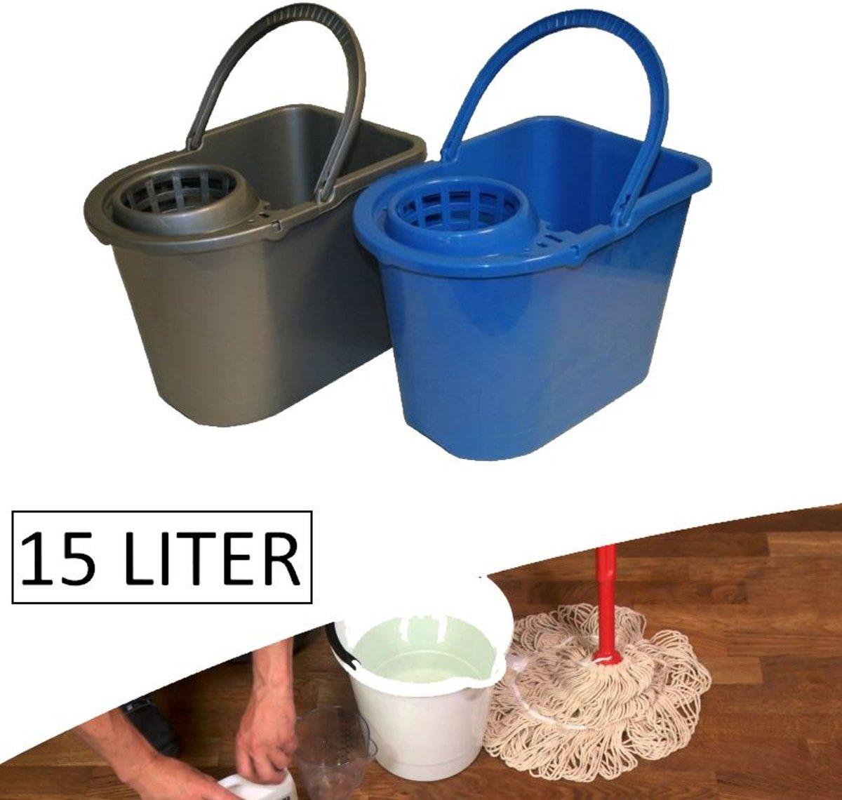 2Clean Dweilemmer / Mopemmer 15 liter Met Wringer (prijs per stuk) kopen