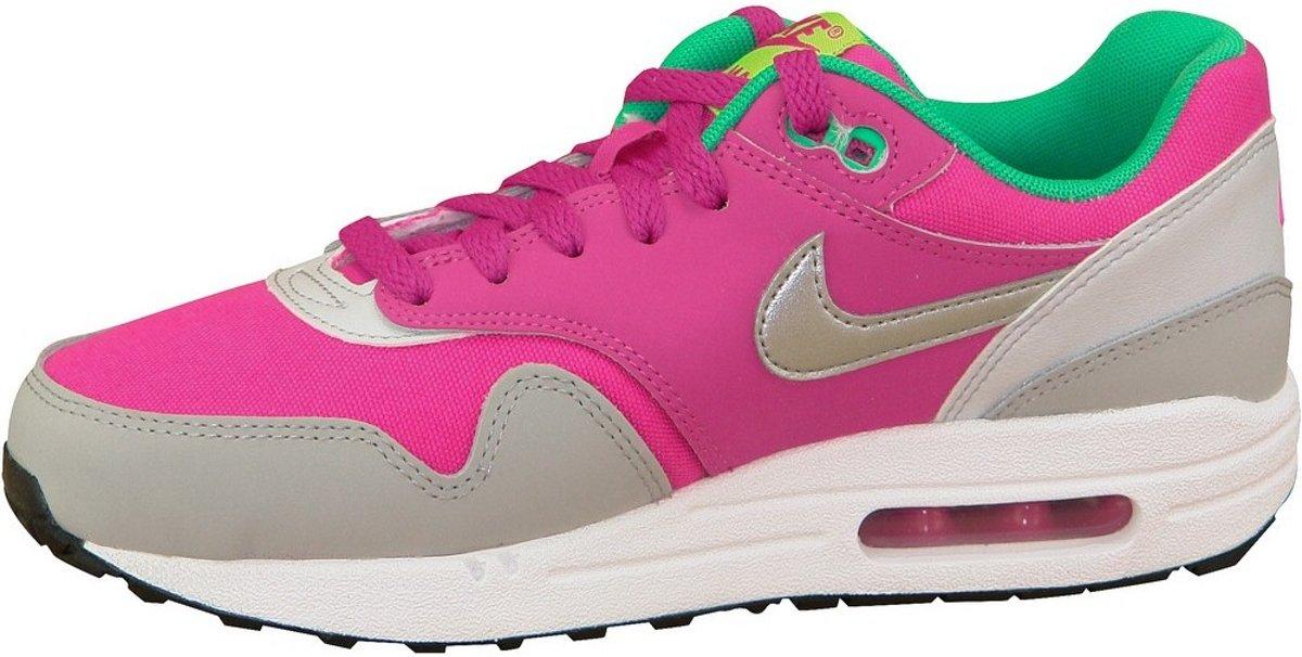 Nike Air Max 1 Gs 555766-115, Femmes, Blanc, Taille Des Chaussures De Sport: 36,5 Eu