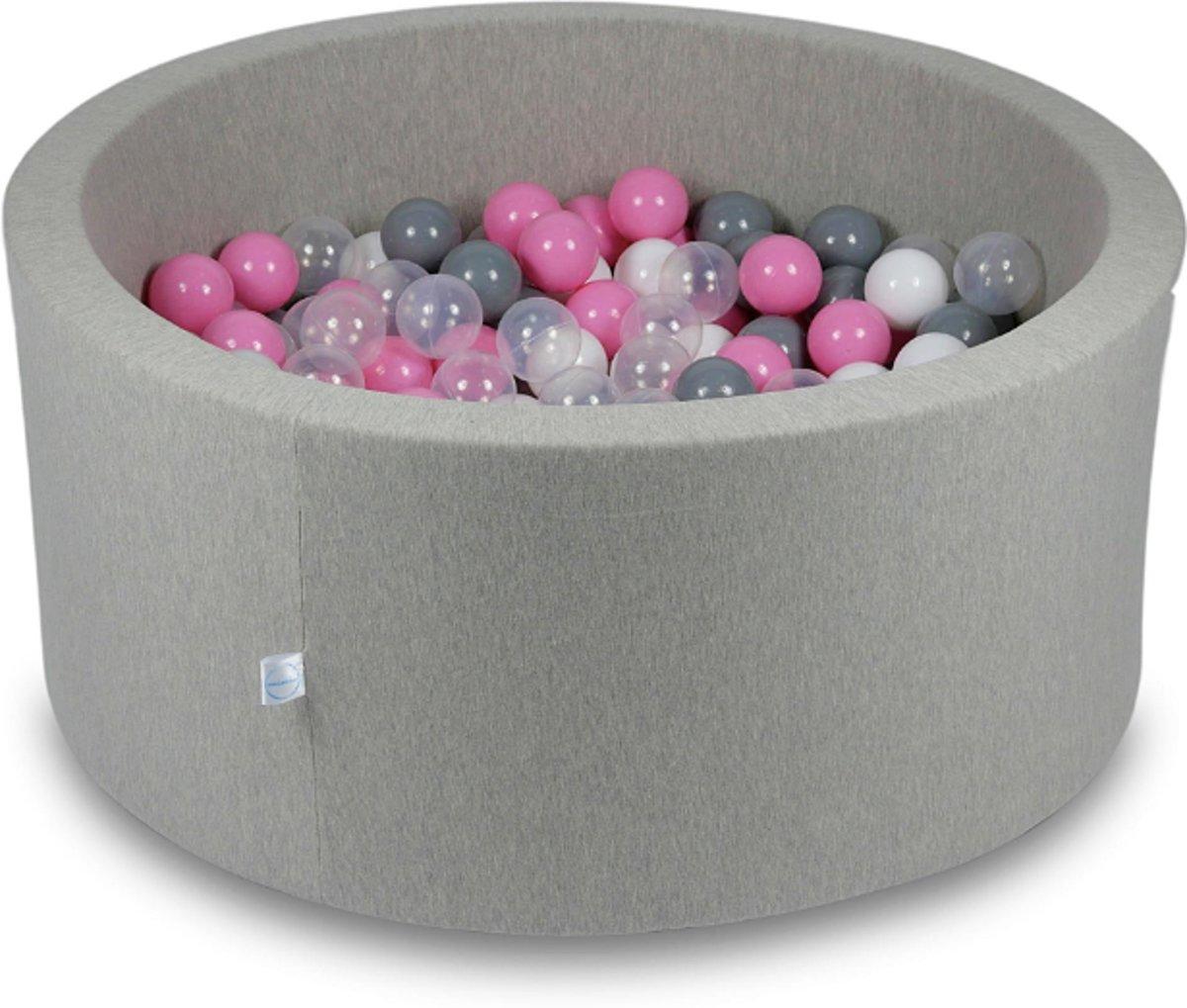 Ballenbak - 300 ballen - 90 x 40 cm - ballenbad - rond grijs