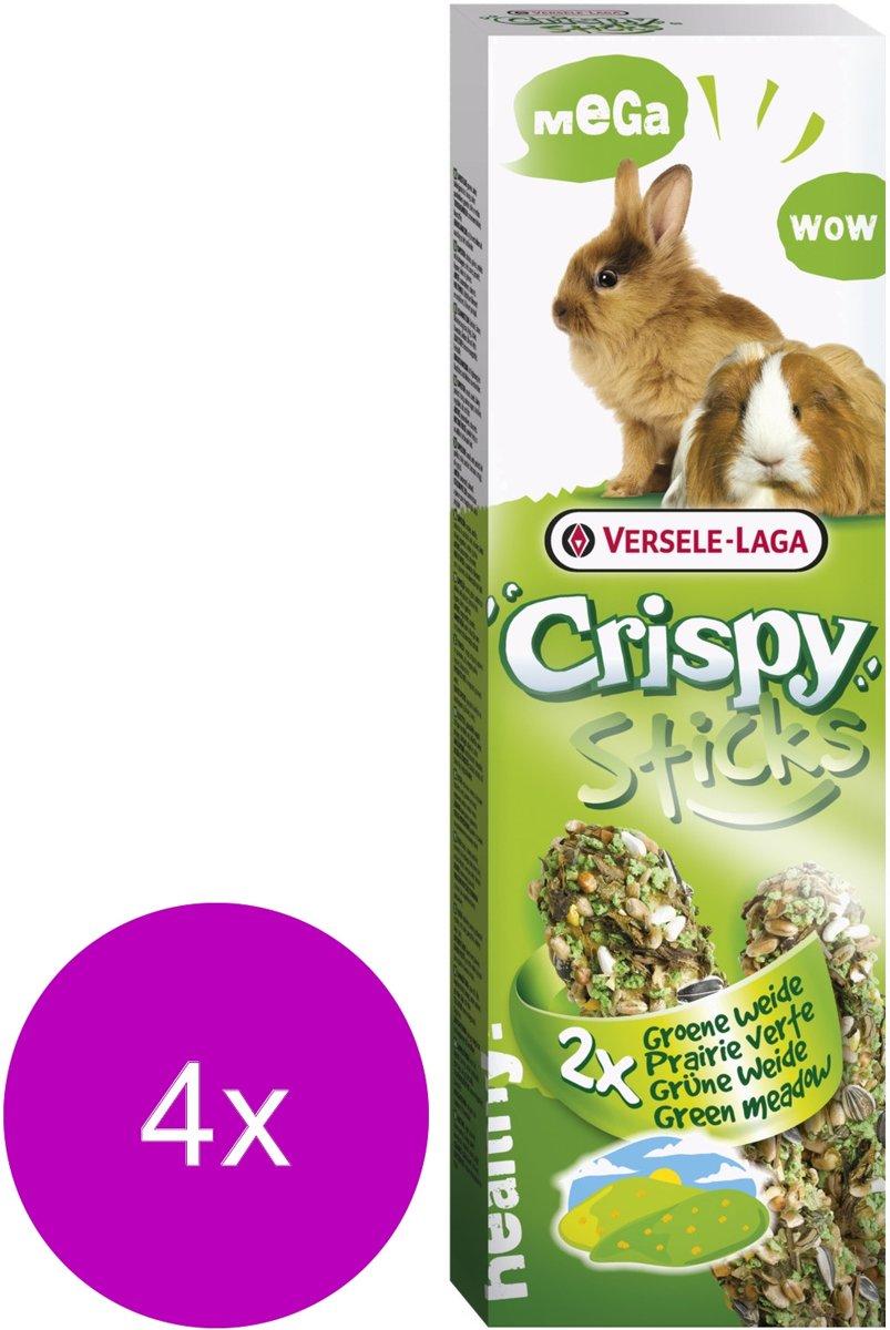 Versele-Laga Crispy Mega Sticks Konijn&Cavia Weide Kruiden - Konijnensnack - 4 x 2x70 g