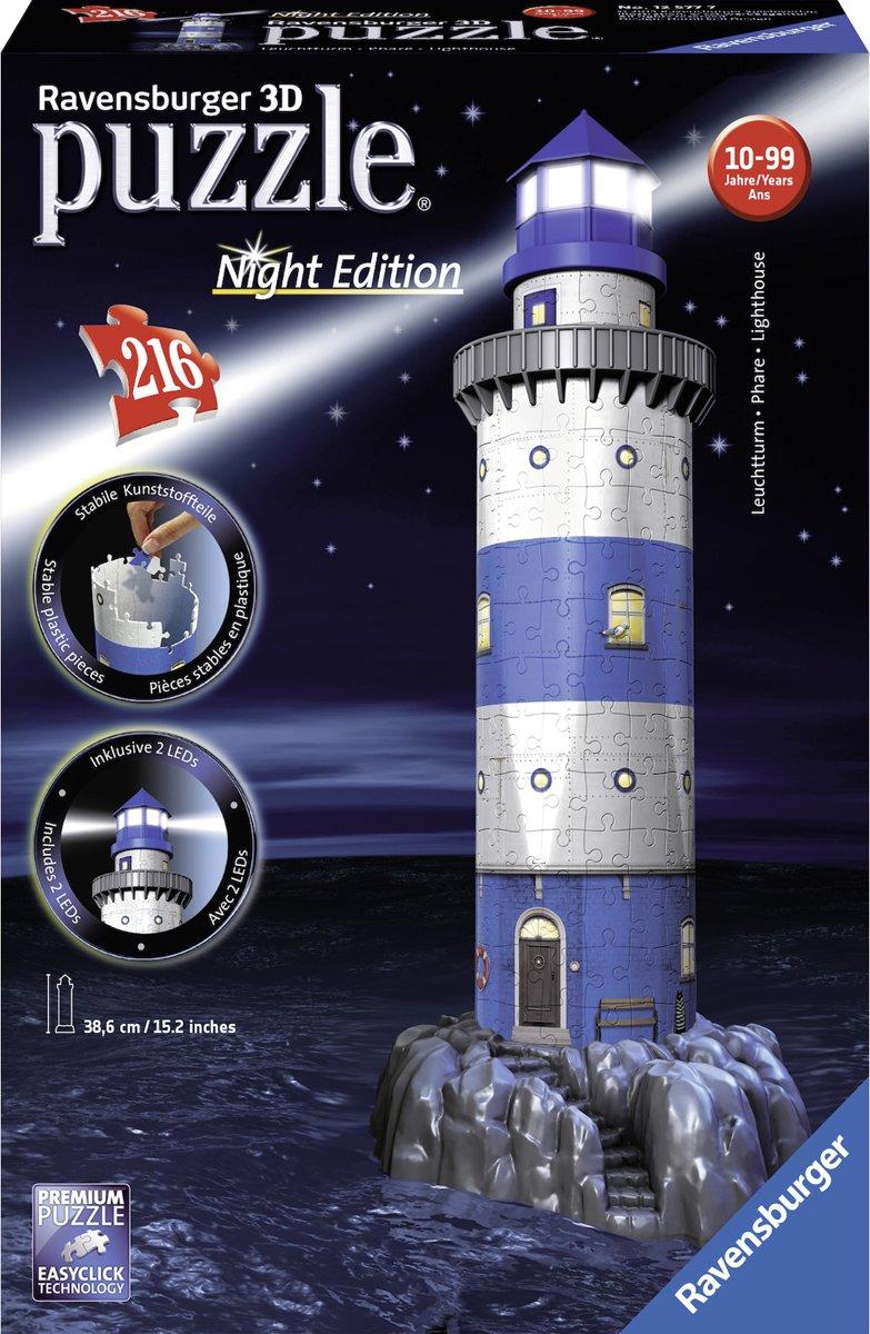 3D Puzzel - Vuurtoren - Night Edition (216 stukjes)