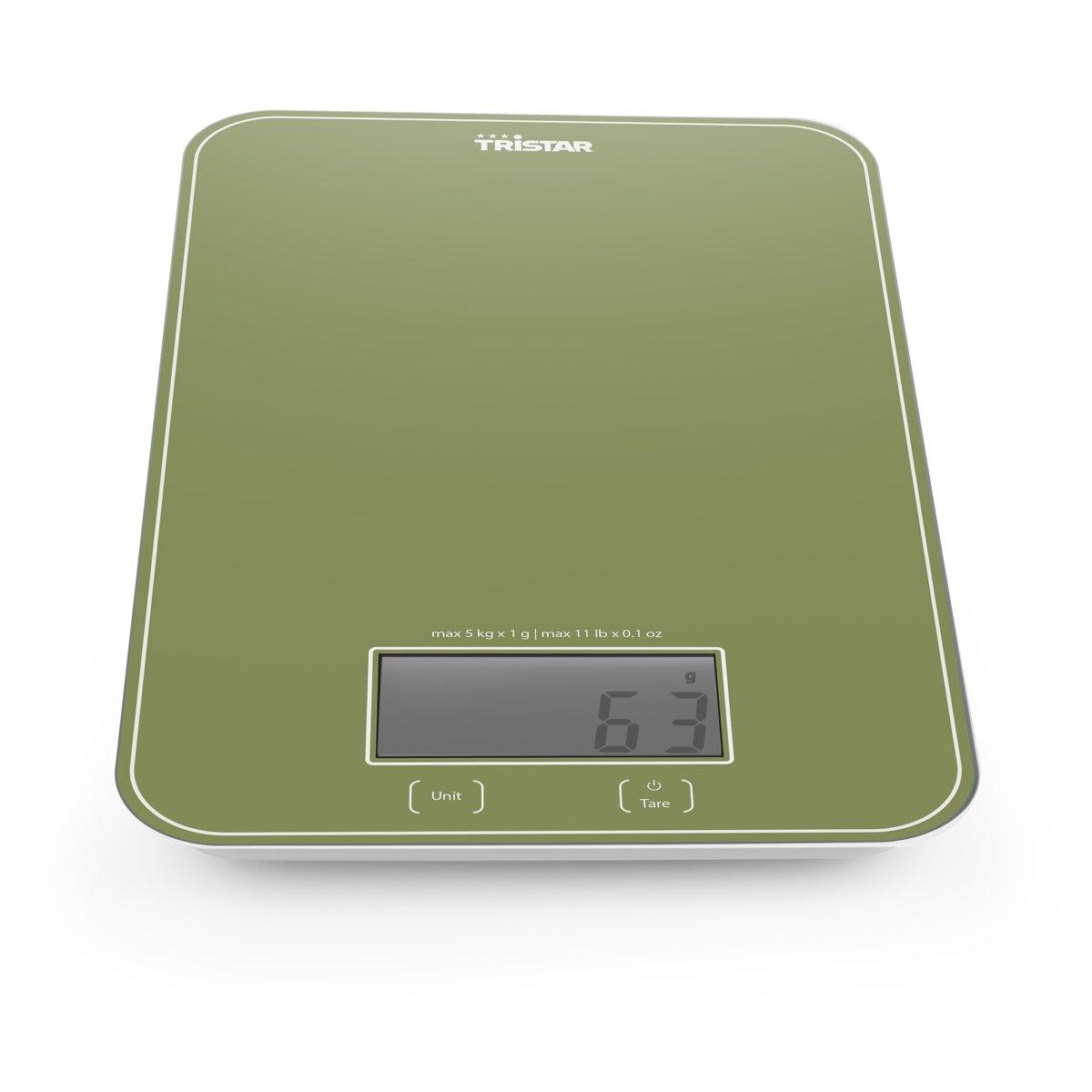 Tristar KW-2446 Keukenweegschaal – 5 kilogram – Groen