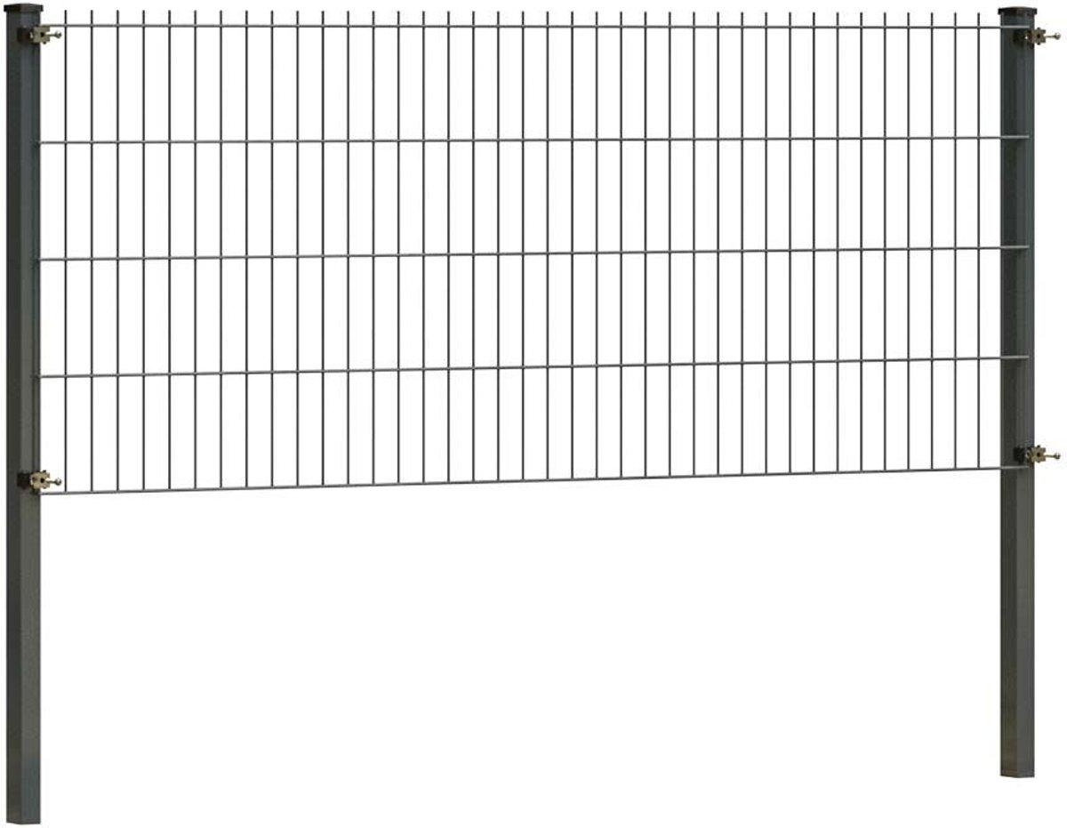 Dubbelstaafmat hekwerk 83 cm hoog   Dubbelstaafmatten   Antraciet   2 meter lang