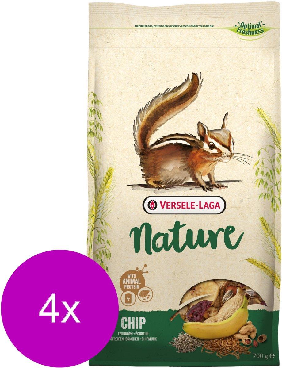 Versele-Laga Nature Chip Eekhoorntjes - Knaagdierenvoer - 4 x 700 g