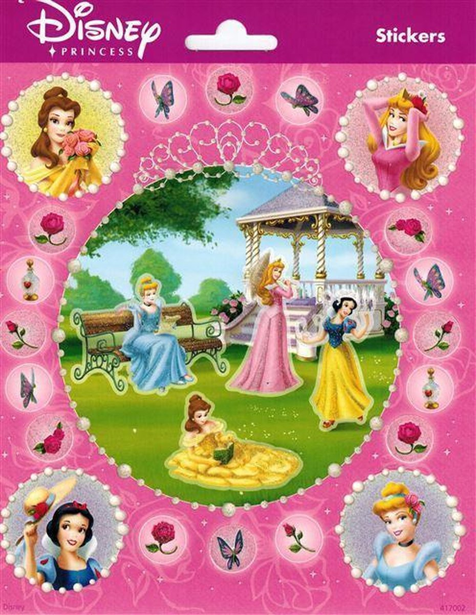 Disney Prinses Stickers Rond