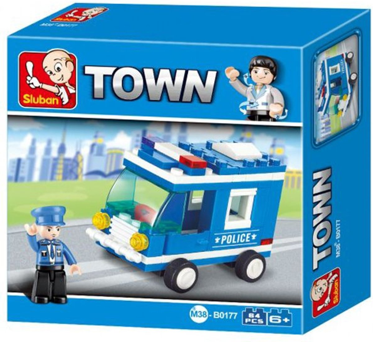Building Blocks Town Serie Police Van